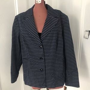 Rafaella Woman blue and white blazer size 20